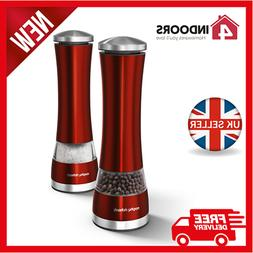 Morphy Richards 974221 Accents Red Electronic Salt & Pepper