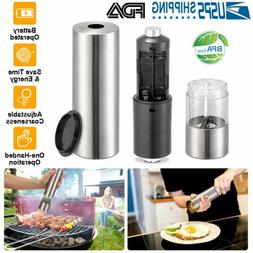 Battery Operated Electric Salt and Pepper Mill Grinder Adjus
