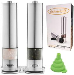BBQ SPECIAL!! Electric Salt and Pepper Grinder Set Stainless