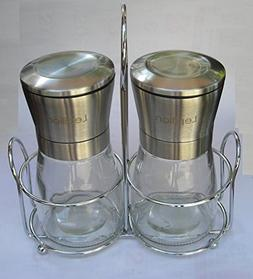 Lepilion Brushed Stainless Steel Salt and Pepper Grinders Sh