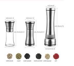 Electric Pepper Grinder Battery Operated Stainless Steel Sal