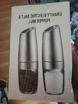 Electric Salt and Pepper Grinder Set Stainless Steel Gravity