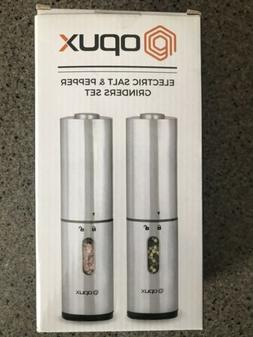 Electric Salt And Pepper Spices Grinder Set Stainless Steel