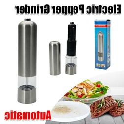 Home Electric Salt Pepper Grinder Automatic Mills Shaker Coo
