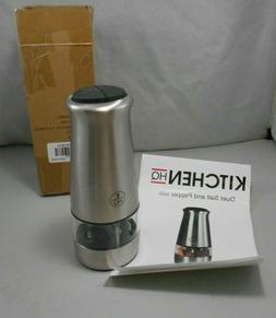 Kitchen HQ Electic Dual Salt and Pepper Mill Grinder Set New