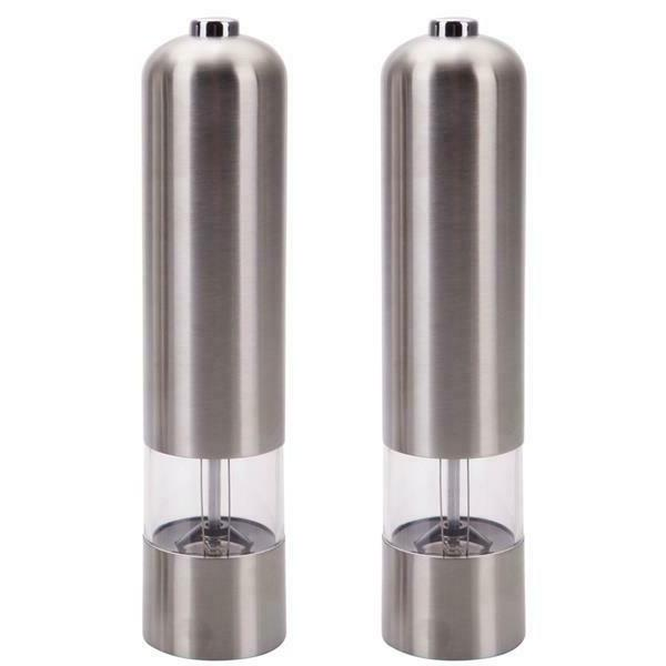 2 Pack Salt Pepper Mill Stainless Steel Home Tools