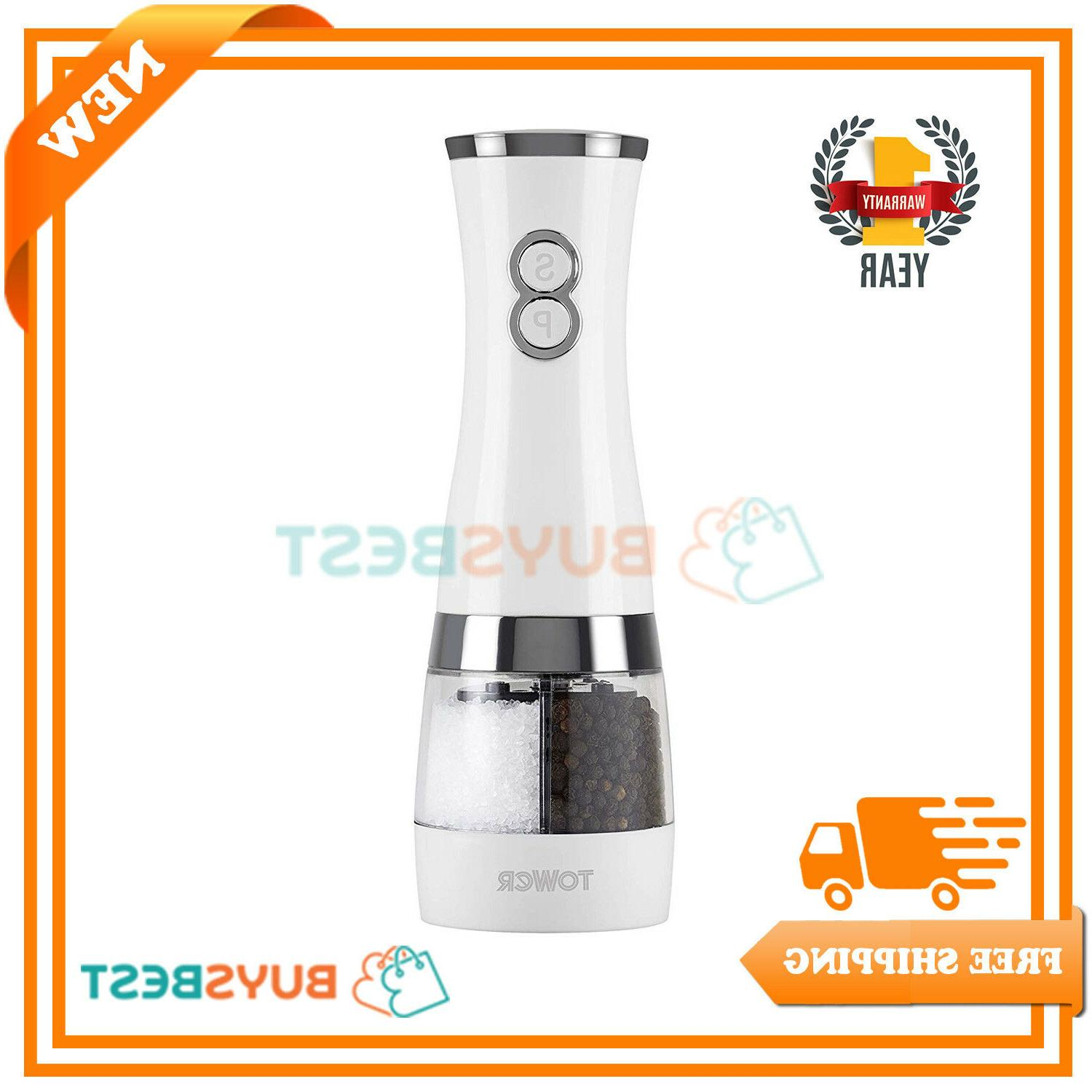 duo electric salt pepper mill battery operated