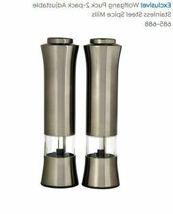 Wolfgang Puck New In Boxes Stainless Steel Silver 2-pack Adj
