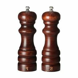 Salt and Pepper Mill Set , Rubberwood / Walnut Colour