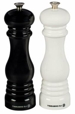 Le Creuset Salt and Pepper Mill Set, 8-Inch Black and White