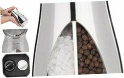Trudeau Stainless Steel Manual 2-in-1 Salt and Pepper Mill,