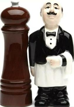 Waiter and Pepper Mill: Salt and Pepper Shakers Magnetic Sal