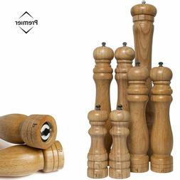 Wooden Salt & Pepper Kitchen Rubberwood Grinder Shaker Spice