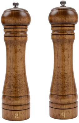 Wooden Salt Pepper Mill Adjustable Ceramic Rotor 8-Inches Re